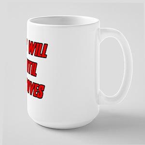 Morale Beatings Large Mug