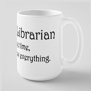 I am the Librarian Large Mug