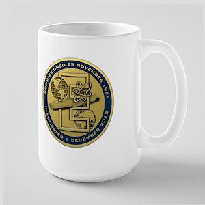 Gold CVN 65 Inactivation! Large Mug