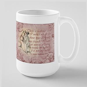 Jane Austen Friends Quote Large Mug