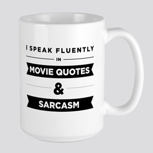 Movie Quotes And Sarcasm Large Mug