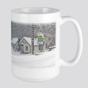 Large Three Pines Lodge Winter Snow Mug