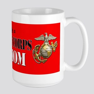 Proud Marine Mom Dog Tags Mugs