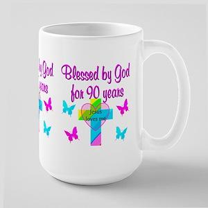 CHRISTIAN 90TH Large Mug