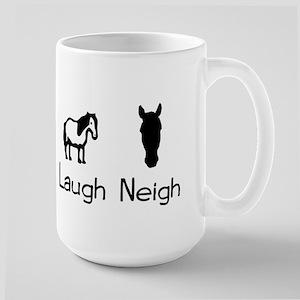 live love laugh neigh Large Mug