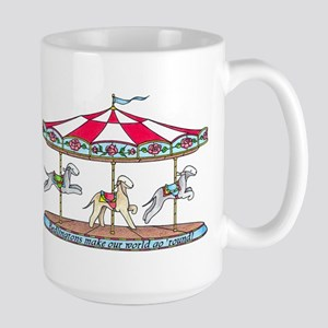 Bedlington Carousel Large Mug