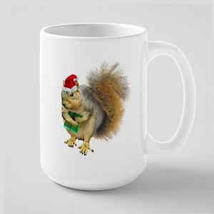 Christmas Squirrel Large Mug