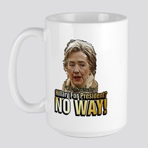 Hillary Clinton Nutcracker ~ Large Mug
