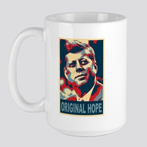JFK ORIGINAL HOPE Pop Art Large Mug