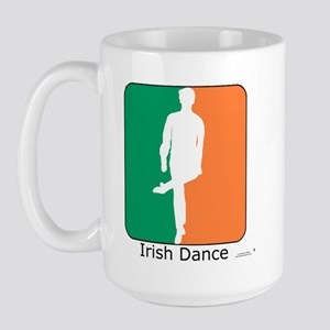 Irish Dance Tricolor Boy Large Mug