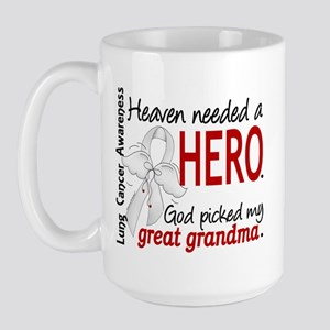 Heaven Needed a Hero Lung Cancer Large Mug