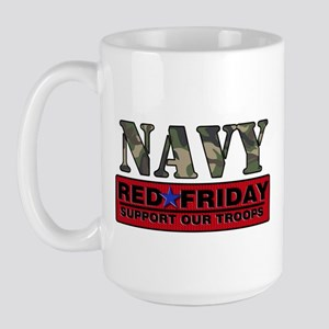 Red Friday Navy Logo Large Mug