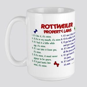 Rottweiler Property Laws 2 Large Mug