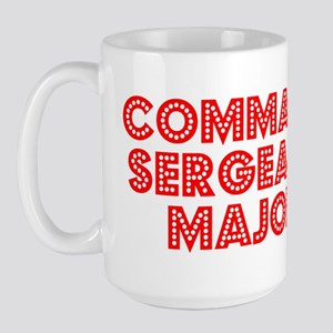 Retro Command Ser.. (Red) Large Mug