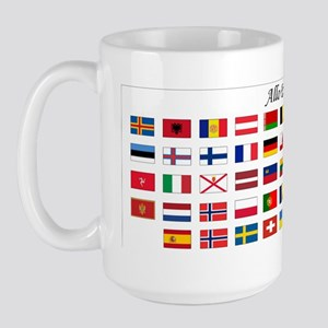 Europe Flags_Mug Large Mug