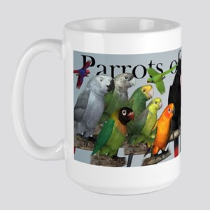 Parrots of the World Large Mug