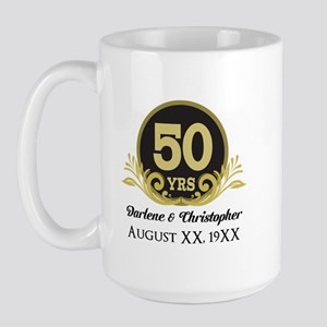 50th Anniversary Personalized Mugs