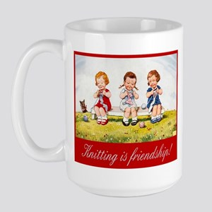 """Knitting Christmas"" Large Mug"