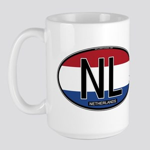 Netherlands Oval Colors Large Mug