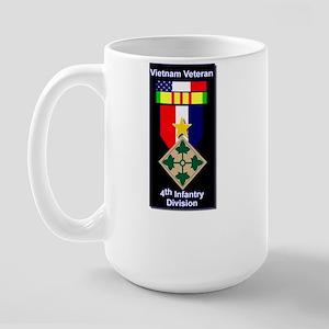 4th Infantry Division Veteran Large Mug