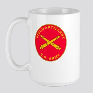 Field Artillery Plaque Large Mug
