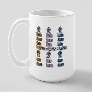 Multi-Love x3 Large Mug
