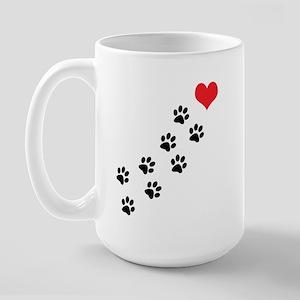 Paw Prints To My Heart Large Mug