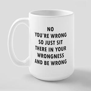No Wrong 15 oz Ceramic Large Mug