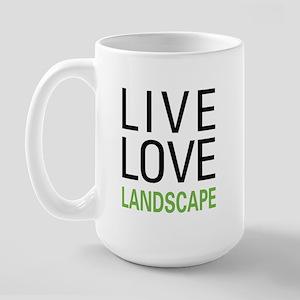 Live Love Landscape Large Mug