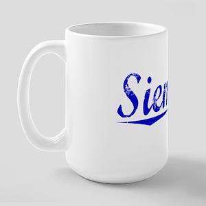 Siemens, Blue, Aged Large Mug