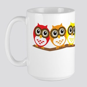 Rainbow Owls Large Mug