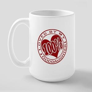 100% Loved By My GodDaughter Large Mug