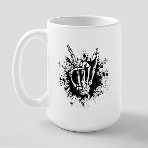 Rock in Bone Splat Large Mug