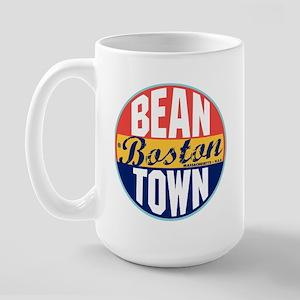 Boston Vintage Label Large Mug
