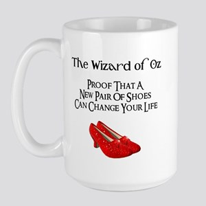Dorothy's Ruby Red Slippers Large Mug