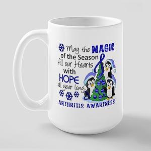 Holiday Penguins Arthritis Large Mug