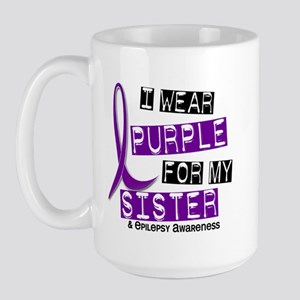 I Wear Purple 37 Epilepsy Large Mug