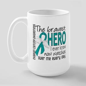 Bravest Hero I Knew Ovarian Cancer Large Mug
