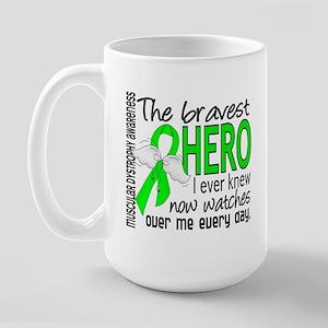 Bravest Hero I Knew Muscular Dystrophy Large Mug