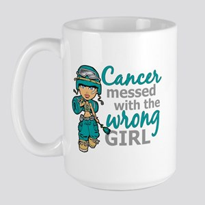 Combat Girl Ovarian Cancer Large Mug