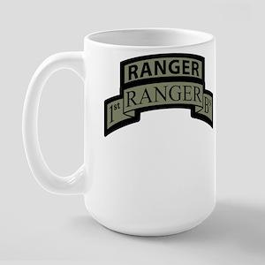 1st Ranger Bn with Ranger Tab Large Mug