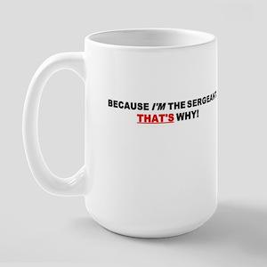 Sergeant Large Mug