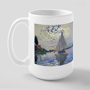 Claude Monet Sailboat Large Mug