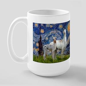 Starry Night Llama Duo Large Mug