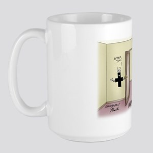 Pi_68 Math Chivalry (10x10 Color) Large Mug