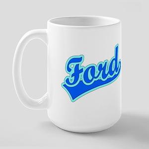 Retro Ford (Blue) Large Mug