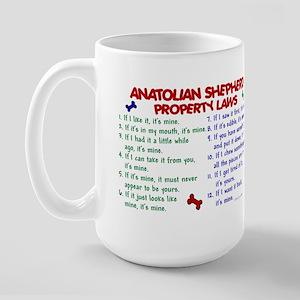 Anatolian Shepherd Property Laws 2 Large Mug
