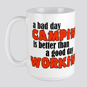 Bad Day Camping Large Mug