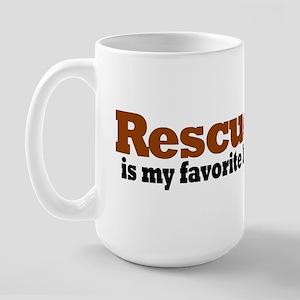 Rescued Breed Large Mug