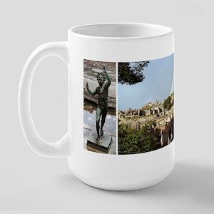 Pompeii, 3 photos Large Mug